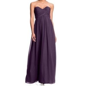 Donna Morgan Strapless Sweetheart Chiffon Gown
